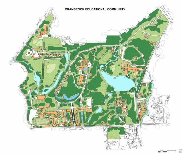 map of cranbrook campus Cranbrook Schools Map map of cranbrook campus